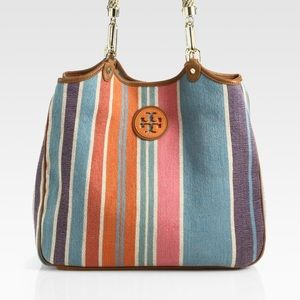 Tory Burch Channing Baja Striped Tote-NWOT